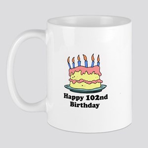 Happy 102nd Birthday Mug
